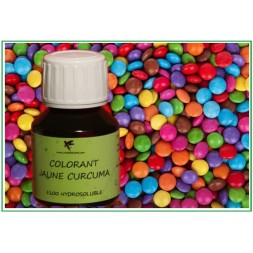 Colorant naturel jaune curcuma