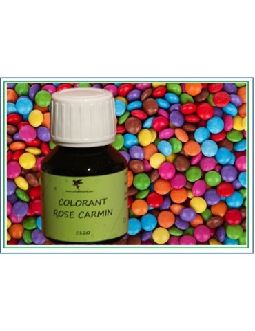 colorant liquide rose carmin